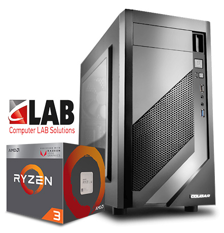 amd ryzen gaming pc with case